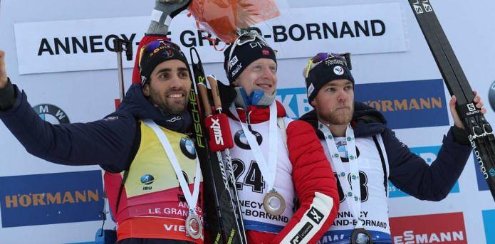 Johannes Bø centra la terza vittoria consecutiva, sua la Sprint di Le Grand Bornand