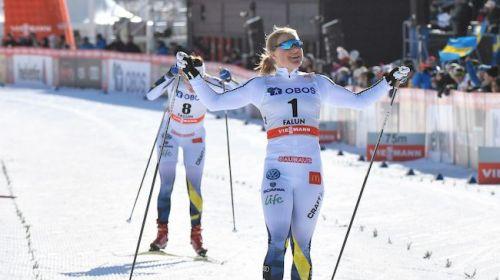 Falk batte Sundling e Bjoergen nella Sprint di Falun, a Falla la coppa di specialità