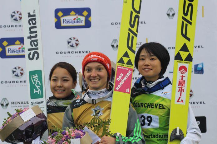Termina l'imbattibilità estiva di Sara Takanashi, a Courchevel vince Katharina Althaus