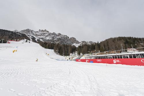 Pronta la nuova finish area di Rumerlo a Cortina d'Ampezzo