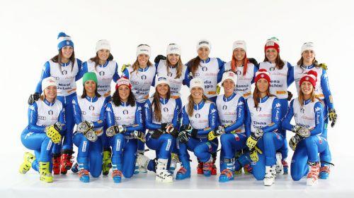 L'Italia femminile di Coppa del Mondo al gran completo allo Stelvio