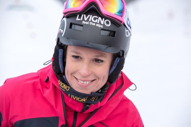 Federica Pellegrini per la prima volta sugli sci a Livigno