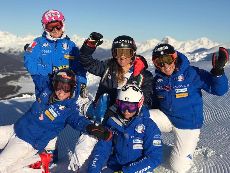 Azzurre sulla via del ritorno in Italia. Gli slalomisti si preparano al coperto in Francia