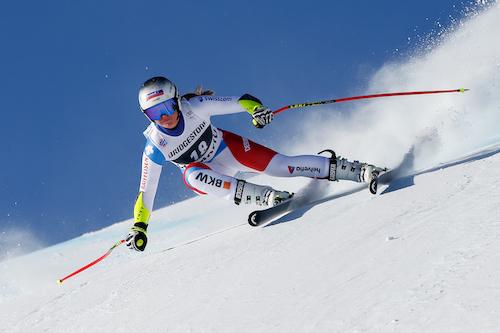 Corinne Suter la più veloce nell'ultima prova di Cortina d'Ampezzo