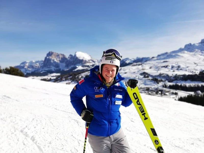 Verena Gasslitter è tornata sugli sci