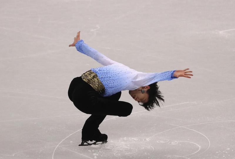 Yuzuru Hanyu subito in testa dopo il programma corto dell'artistico maschile