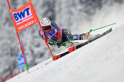 Henrik Kristoffersen in testa alla prima manche del gigante di Adelboden