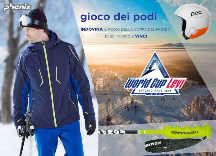 Indovina i podi della Coppa del Mondo di sci alpino di Levi, in palio splendidi premi Phenix, POC e Komperdell!