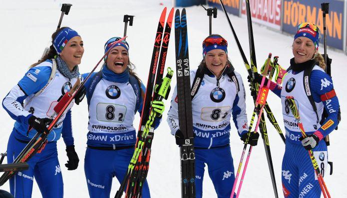 Una meravigliosa Italia è seconda alle spalle della Germania nella staffetta femminile di Ruhpolding