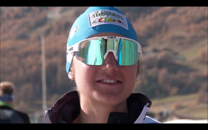 """VIDEO - Veronica Gianmoena: """"Non c'è niente di più bello che sciare su neve in mezzo ai colori dell'autunno""""."""