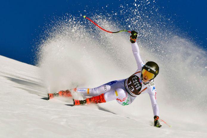 Sofia Goggia ancora la più veloce in prova a Crans-Montana