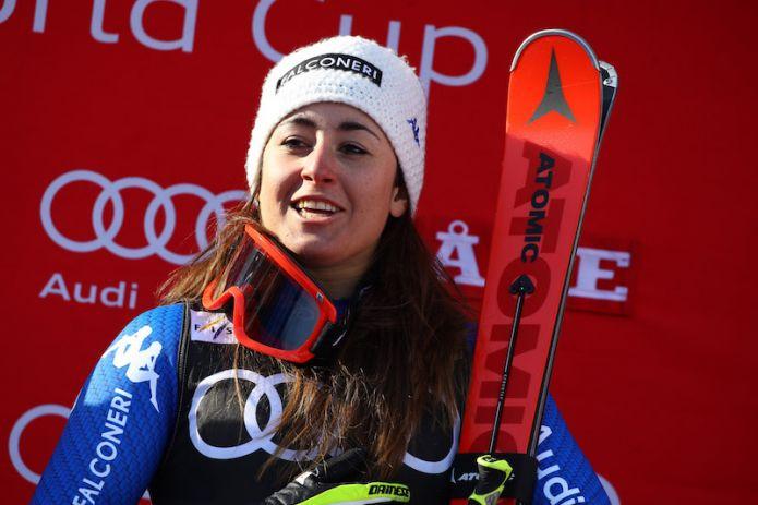Sofia Goggia in partenza per il Cile. Discesiste e slalomgigantiste baciate dal sole a Zermatt