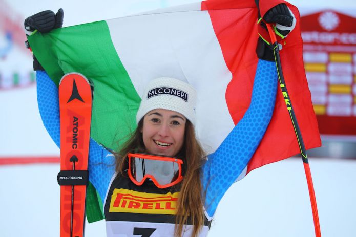 Sofia Goggia: 'Da metà in giù sono riuscita a dare tutto, sono troppo felice'