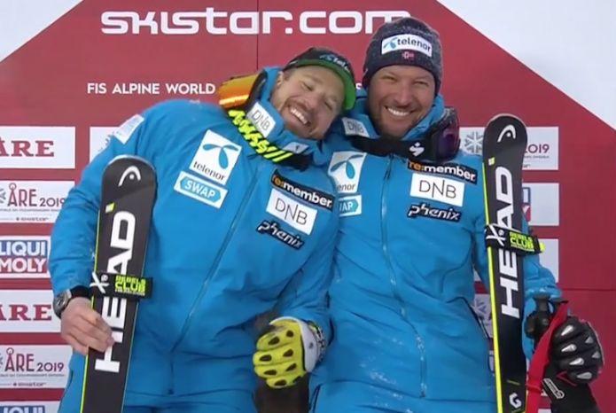 Kjetil Jansrud oro e Aksel Lund Svindal argento nella discesa dei Mondiali di Are