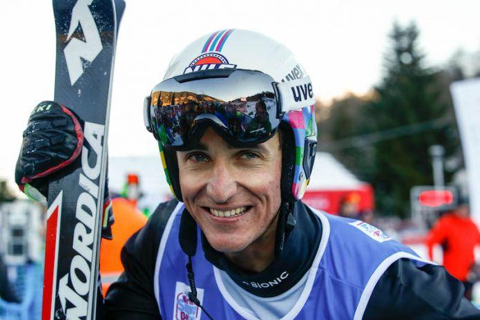 Lo ski cross azzurro in allenamento allo Stelvio