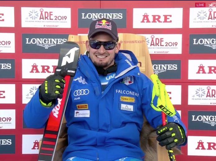 Dominik Paris in testa alla discesa della combinata dei Mondiali di Are