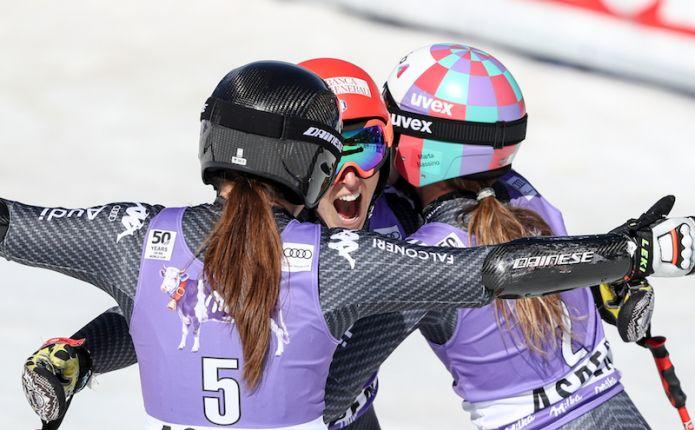 Le squadre azzurre femminili di sci alpino ancora in Val Senales