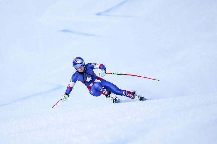 Lindsey Vonn e Christof Innerhofer al Passo San Pellegrino: 'Un allenamento proficuo'