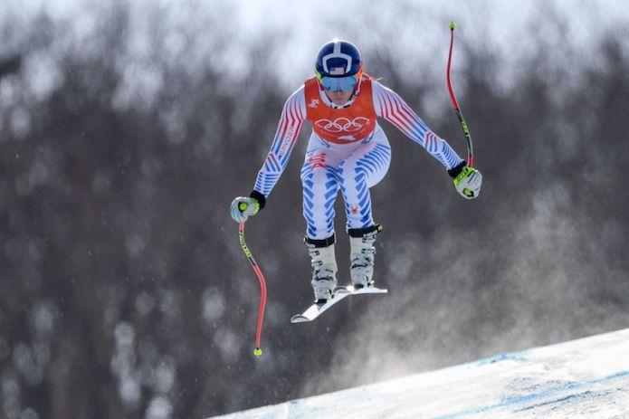 Lindsey Vonn davanti nella prima prova della discesa olimpica di Jeongseon