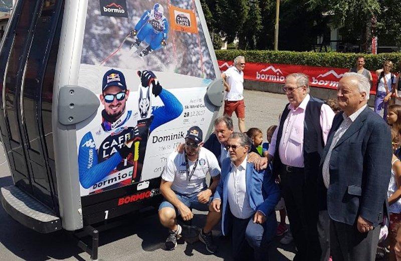 Presentata la tappa di Coppa del Mondo di Bormio che dedica una cabinovia a Dominik Paris