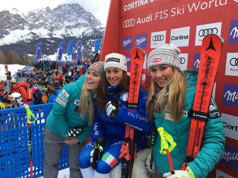 Lindsey Vonn sbaglia e viene battuta da Sofia Goggia che trionfa nella prima discesa di Cortina d'Ampezzo!