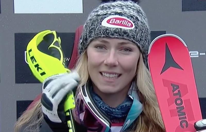 Mikaela Shiffrin in testa dopo la nebbiosa prima manche dello slalom di Killington