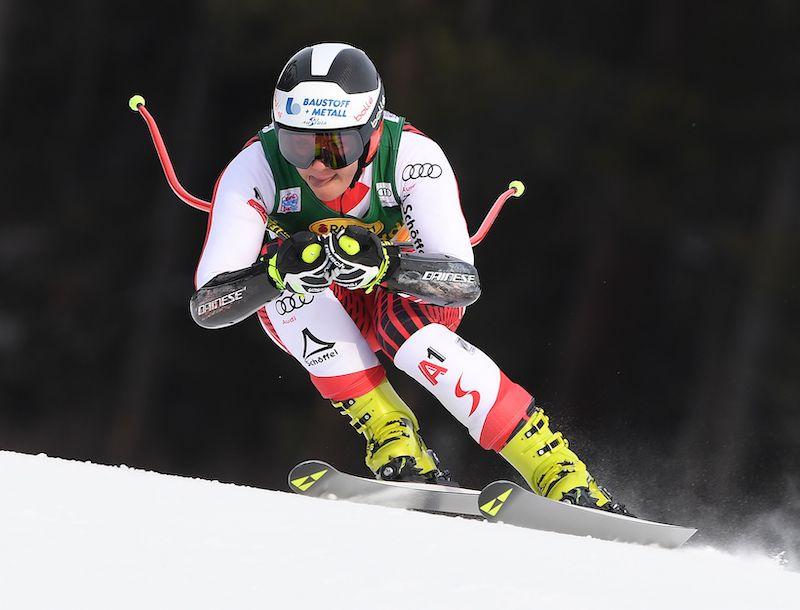 Ramona Siebenhofer davanti nella prima prova della Val Gardena, terza Nicol Delago