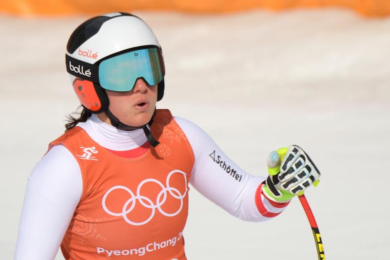 Ramona Siebenhofer la più veloce (con salto di porta) nell'ultima prova della discesa olimpica