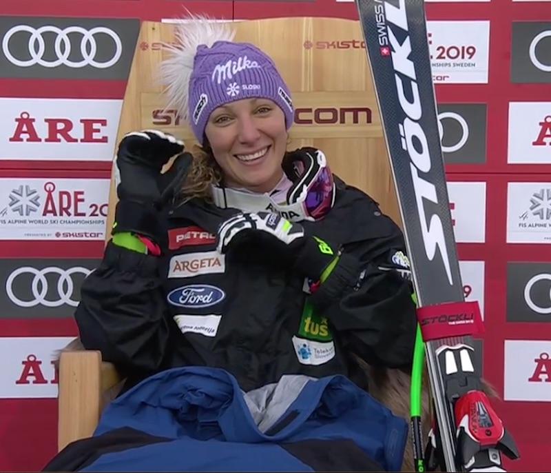 Ilka Stuhec oro nella discesa mondiale di Are, Lindsey Vonn bronzo!