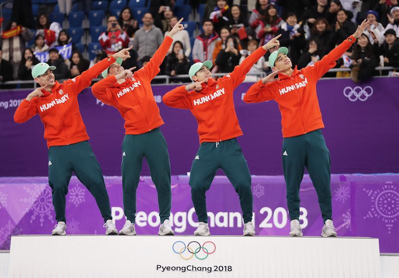 Storico primo oro ai Giochi invernali per l'Ungheria nella staffetta maschile dello short track
