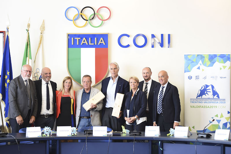 Presentati al Coni i Mondiali juniores di Val di Fassa 2019