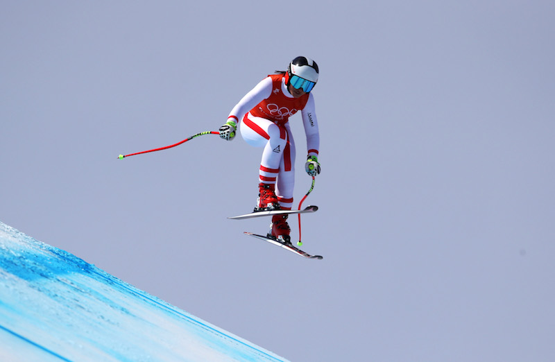 Stephanie Venier la più veloce nella seconda prova della discesa olimpica di Jeongseon