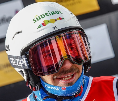 Omar Visintin secondo nello snowboard cross maschile di Coppa del Mondo di Cervinia