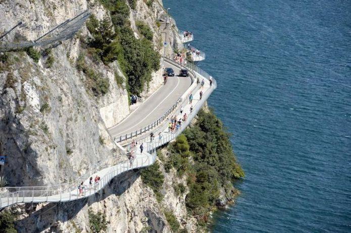 Inaugurati i primi 2 chilometri di Garda by Bike