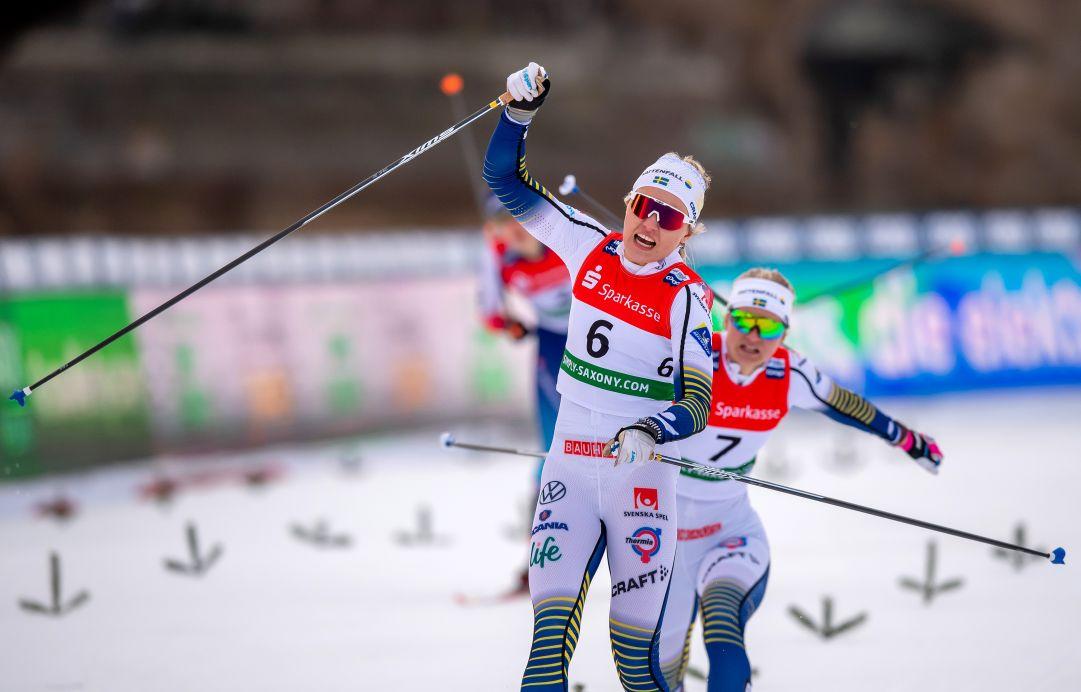 Ancora Svahn! La svedese bissa il successo di ieri vincendo la prova skiathlon della Val Mustiar