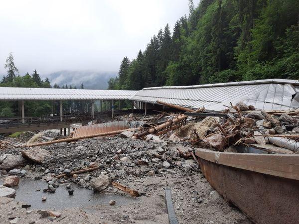 Alluvione in Germania: anche la pista di Koenigssee martoriata dalle precipitazioni