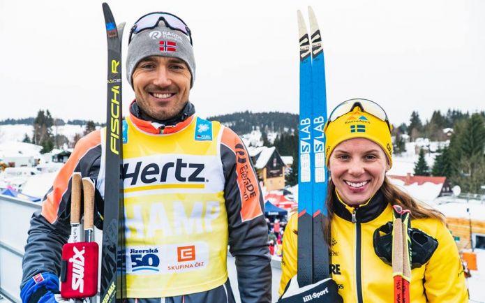 Visma Ski Classic: nella Jizerská 50 vincono Nygaard e Korsgren