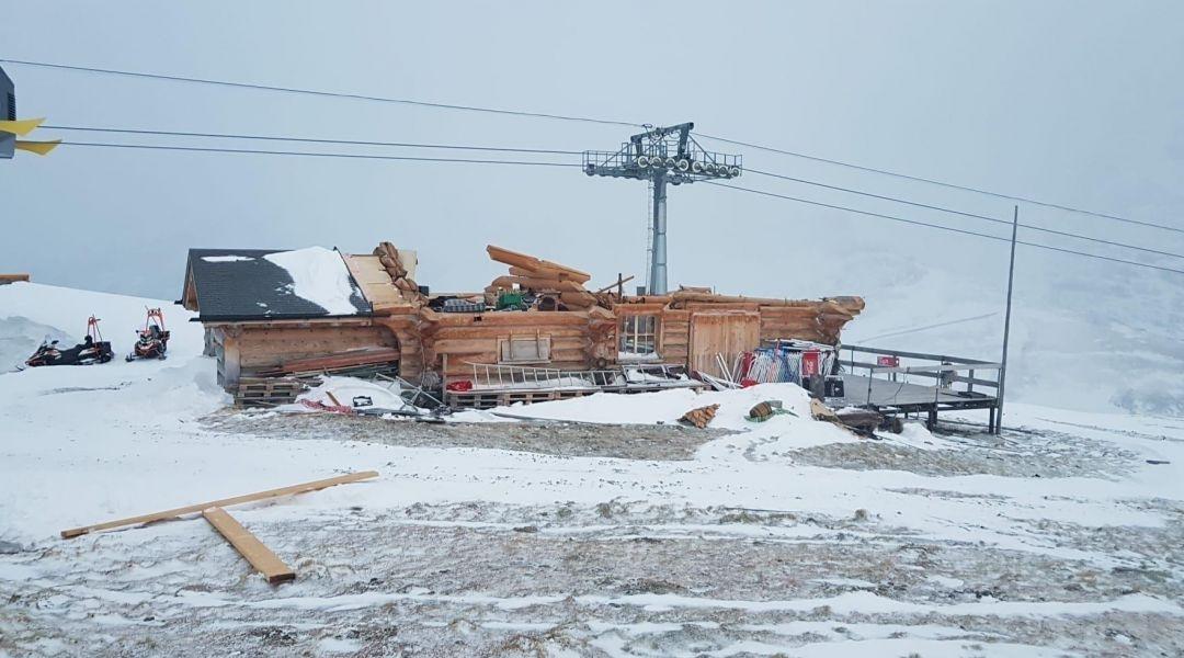 Il bar in vetta al Lauberhorn di Wengen? Distrutto da una tempesta di foehn: 'Vogliamo riaprire per Natale'