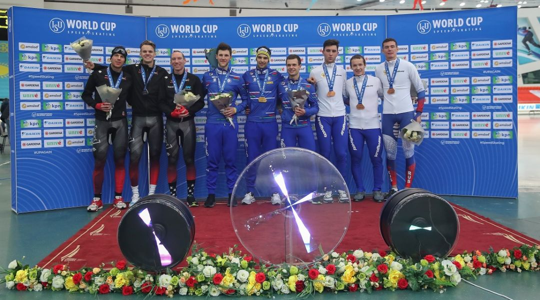 Altri sorrisi dallo speed skating azzurro con il trionfo dei ragazzi del Team Pursuit in Kazakistan