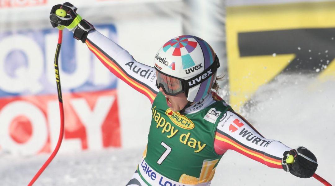 C'è anche Rebensburg: la bavarese si è ritrovata in super-g. 'Finalmente ho vinto a Lake Louise'