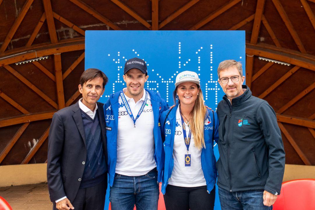 Christof Innerhofer e Michela Moioli, 'Talenti' a Cortina: 'Vogliamo tornare a vincere pensando ai Giochi 2026'