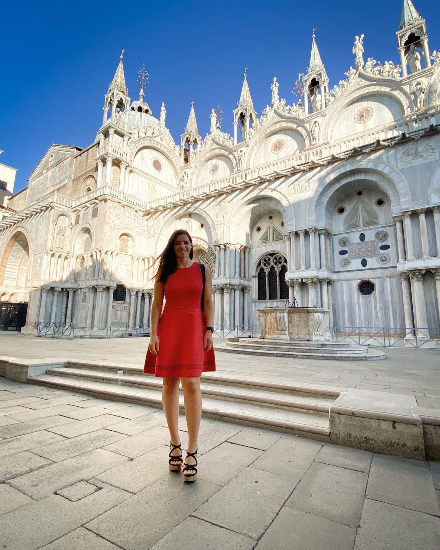 Toh chi si rivede: Tina Weirather splendida turista tra le meraviglie di Venezia