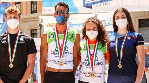 Tricolori di skiroll a Rieti, esulta il Piemonte con le vittorie di Elisa Sordello ed Emanuele Becchis