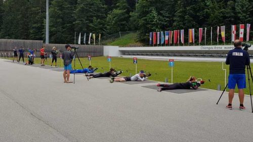 Proseguono gli allenamenti dei biathleti azzurri a Ruhpolding: si lavora molto al poligono