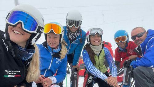 I ragazzi delle Alpi Centrali per una settimana a Hintertux. Tentori: Lavoro utile su neve molle