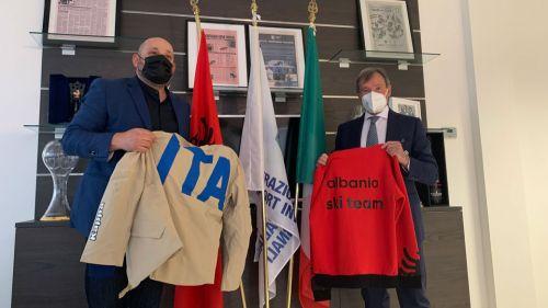 Tra Italia e Albania un legame più forte grazie anche allo sci: l'incontro con il presidente Toci