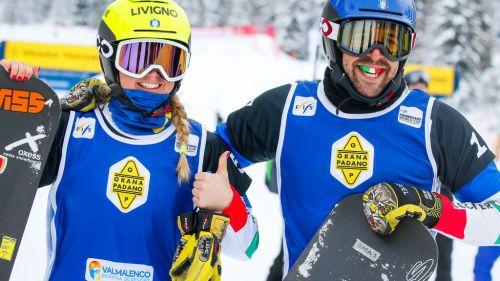 Si presentano le nazionali azzurre di snowboard: gruppo élite con Moioli, Brutto, Visintin, Sommariva e Perathoner