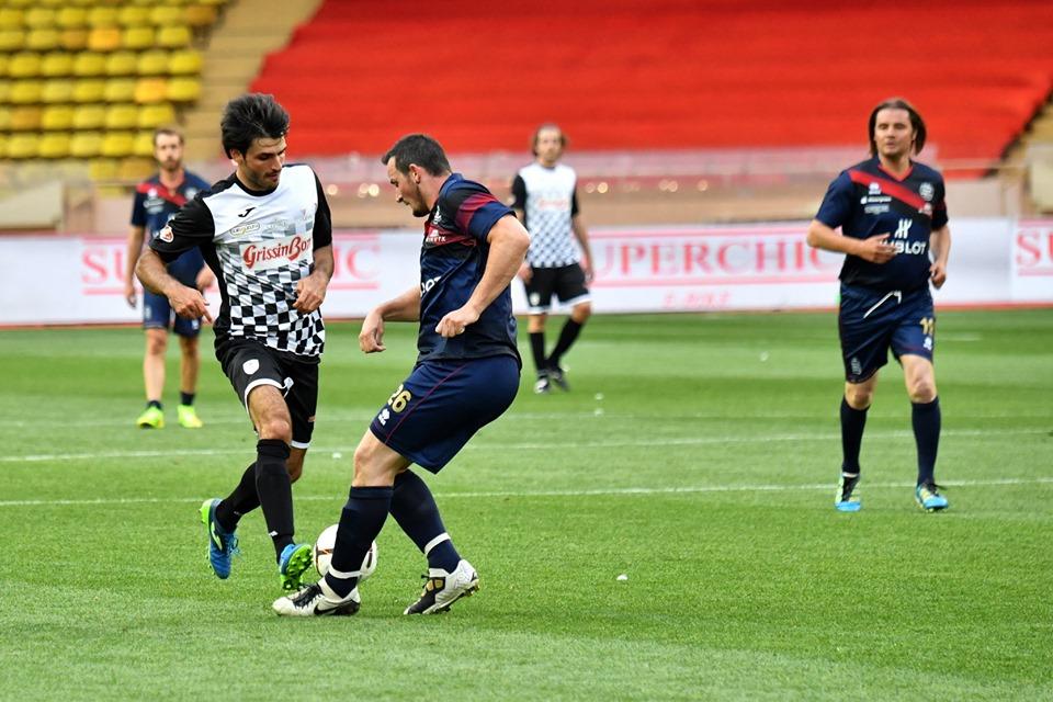 Anche Dominik Paris in campo con le stars a Monaco: 'Tifo Ferrari e Red Bull, mi piace Leclerc'
