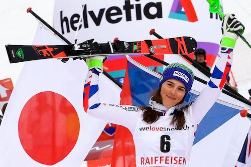 Petra Vhlova e un mezzo... Ironman con il team prima di tornare sugli sci nella 'sua' Italia