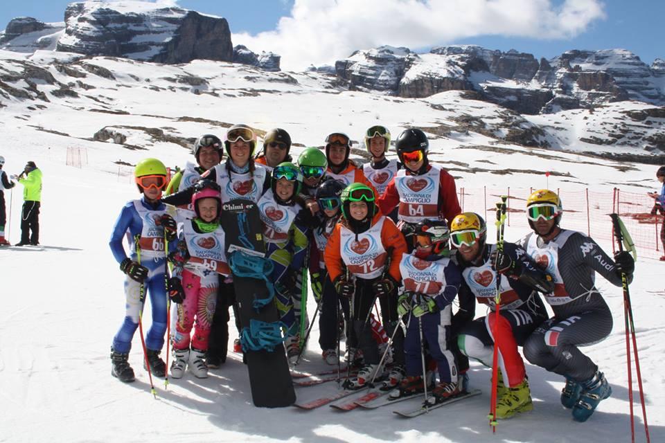 E' tutto pronto per 'Sciare col Cuore': domenica in pista a Madonna di Campiglio per beneficenza